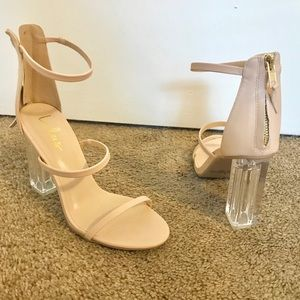 Lulus Cream Strappy Heels